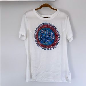 Escada Logo Graphic T-shirt, silk/cotton
